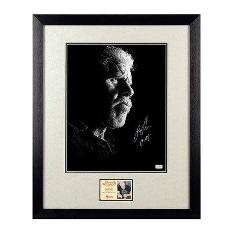 Ron Perlman Autographed Clay Morrow Framed