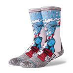 Captain America Comic Socks // Gray (L)
