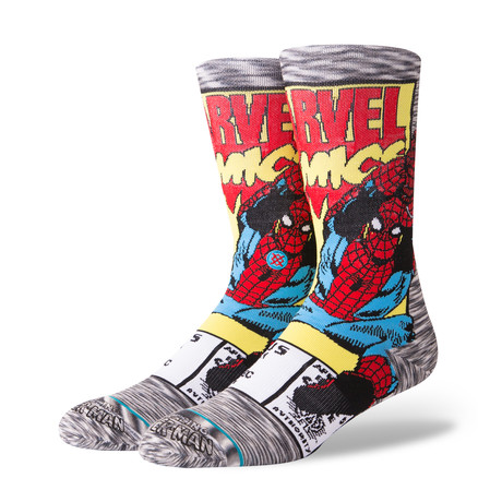 Spiderman Comic // Gray // Pack of 6 (M)