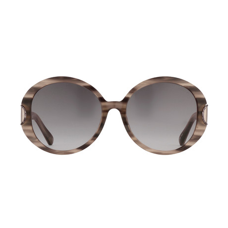 Women's Odlr58C4 Sunglasses // Inky Horn + Silver