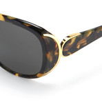 Women's Odlr55C2 Sunglasses // Dark Tortoise + Gold