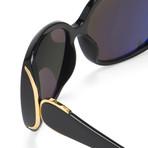 Women's Odlr55C1 Sunglasses // Black + Gold