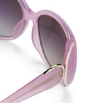 Women's Odlr55C6 Sunglasses // Candy Pink + Light Gold