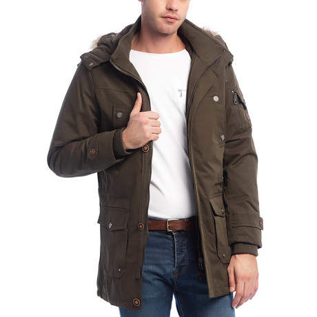 Celio Coat // Dark Khaki (S)