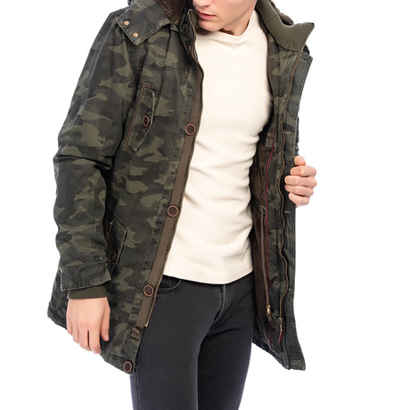 Tyrrell Coat // Camouflage Soldier Green (S)