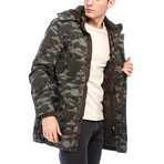 Montel Coat // Camouflage Green (L)