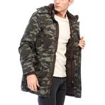 Montel Coat // Camouflage Green (S)
