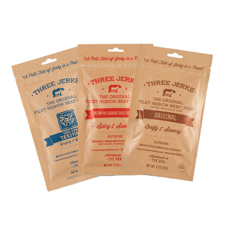 Three Jerks Jerky // Filet Mignon 3-Flavor Pack // 6 Bags