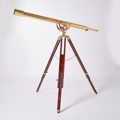 Harbormaster Telescope // Mahogany Tripod // 55-Inch