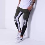Color Block Sweatpants // Khaki (XL)