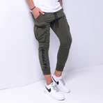 Cargo Jogger Sweatpants // Khaki (XL)