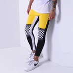 Color Block Sweatpants // Yellow (L)