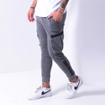 Cargo Jogger Sweatpants // Gray (S)
