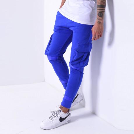 Cargo Jogger Sweatpants // Blue (S)