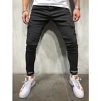 Skinny Cargo Jeans // Black (29WX29L)