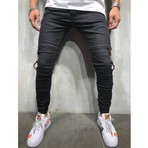 Striped Jogger Jeans // Black (31WX31L)