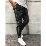 Ankle Pants + Stripes // Black (29WX29L)