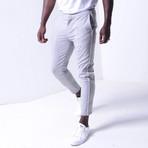 Ankle Pants + Stripes // Gray (29WX29L)