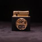 Brass Carved Kerosene Lighter (Black)