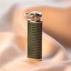 Lizard Leather Wrapped Kerosene Lighter // Green