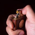 Golden Coin Kerosene Lighter (Saddlebrown)