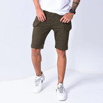 Denim Shorts Cargo Pockets // Khaki (33WX33L)
