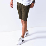 Denim Shorts Cargo Pockets // Khaki (29WX29L)