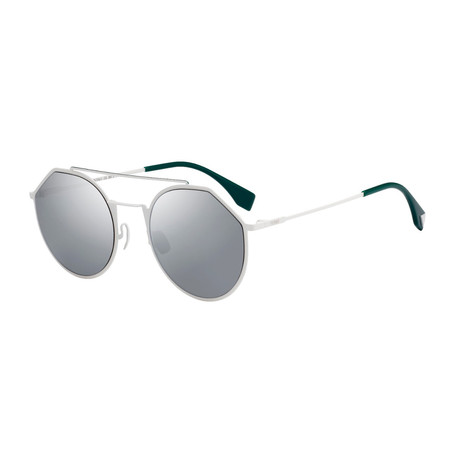 Men's M0021 Sunglasses // White + Silver