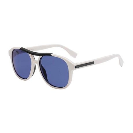 Men's M0026 Sunglasses // White + Blue