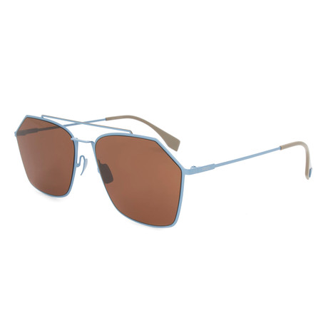 Men's M0022 Sunglasses // Blue + Brown