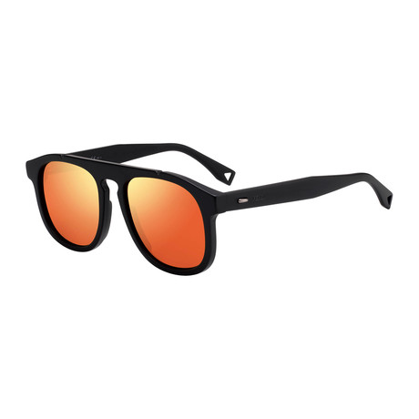 Men's M0014 Sunglasses // Matte Black + Orange
