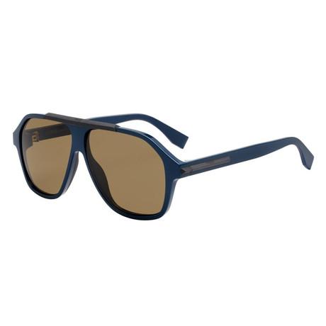 Men's M0027 Sunglasses // Blue + Brown