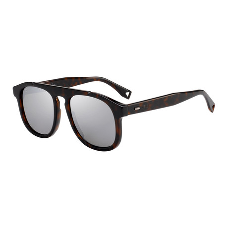 Men's M0014 Sunglasses // Brown + Silver