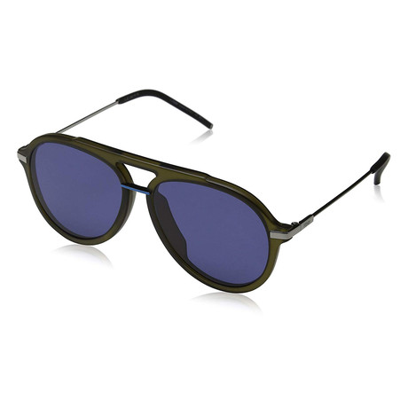 Men's M0011 Sunglasses // Olive + Blue