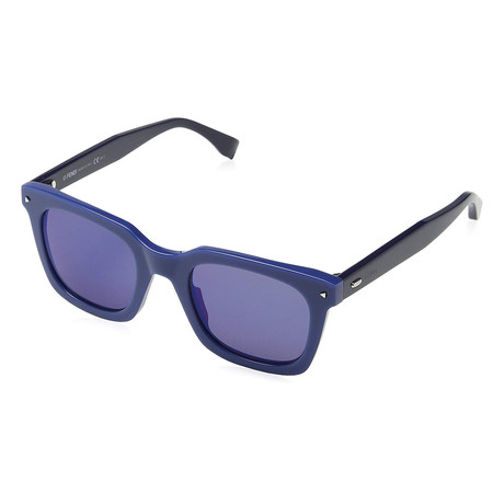 Unisex 0216S Sunglasses // Blue + Sky Mirror