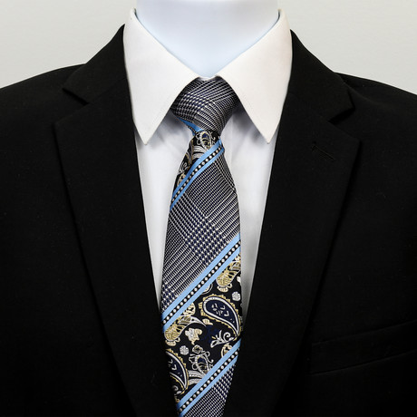 Silk Neck Tie + Gift Box // Turquoise Blue Floral
