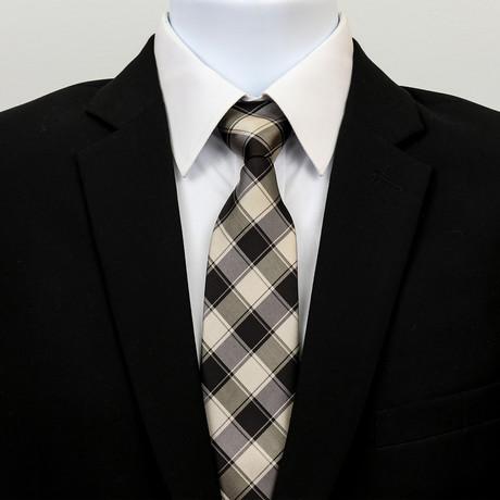 Silk Neck Tie + Gift Box // Check