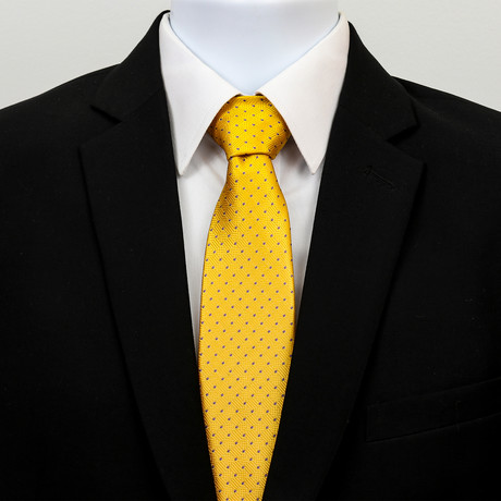 Silk Neck Tie + Gift Box // Metallic Yellow Purple