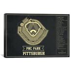 """Pittsburgh PNC Park // Cutler West (26""""W x 18""""H x 0.75""""D)"""