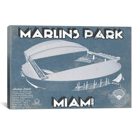 "Miami Marlins Park I // Cutler West (26""W x 18""H x 0.75""D)"