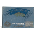 "Minnesota Target Field Blueprint // Cutler West (26""W x 18""H x 0.75""D)"
