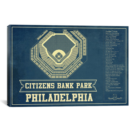 "Philadelphia Citizens Bank Park II // Cutler West (26""W x 18""H x 0.75""D)"