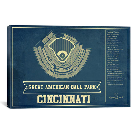 "Cincinnati Great American Ball Park I // Cutler West (26""W x 18""H x 0.75""D)"