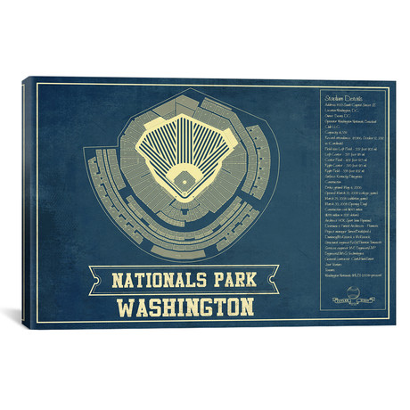 "Washington Nationals Park // Cutler West (26""W x 18""H x 0.75""D)"
