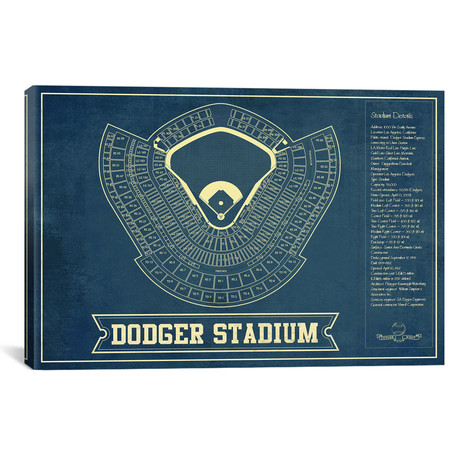 "Los Angeles Dodger Stadium // Cutler West (26""W x 18""H x 0.75""D)"
