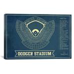 "Los Angeles Dodger Stadium // Cutler West (26""W x 18""H x 0.75""D)"