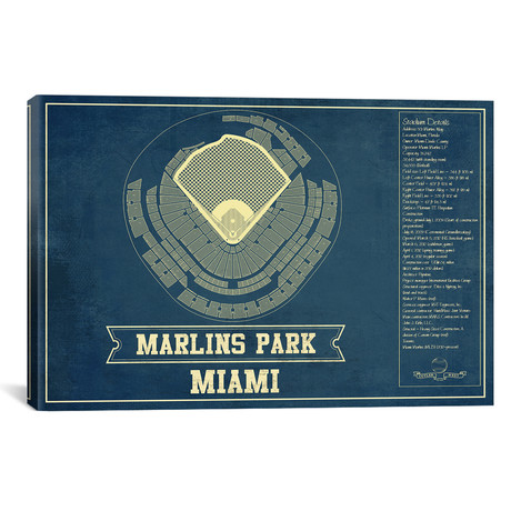 "Miami Marlins Park II // Cutler West (26""W x 18""H x 0.75""D)"