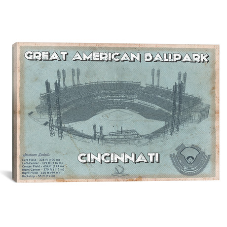 "Cincinnati Great American Ballpark // Cutler West (26""W x 18""H x 0.75""D)"