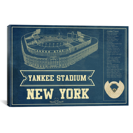"New York Yankees Stadium // Cutler West (26""W x 18""H x 0.75""D)"