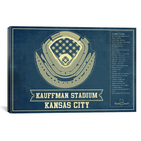 "Kansas City Kauffman Stadium // Cutler West (26""W x 18""H x 0.75""D)"